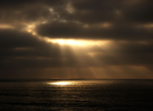 Rays of Light over the ocean
